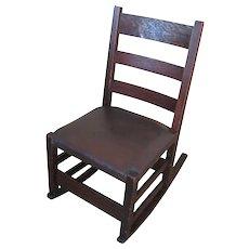 Antique Gustav Stickley Sewing Rocking Chair  f6100