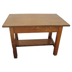 Antique Limbert Library Table  f91