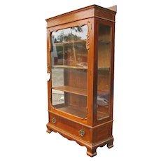 Antique Quarter Oak China Cabinet f9652
