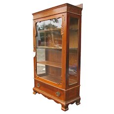 Antique Quarter Oak China Cabinet f9652