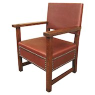 Antique L& jG Stickley Large Armchair  f9718
