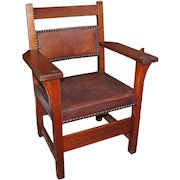 Antique and Rare Gustav Stickley Armchair  ff575