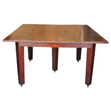 Antique Gustav Stickley Square Table ff599_1