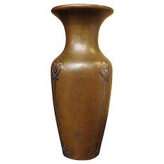 """Antique """"HEINTZ"""" Arts & Crafts  Tall Vase  ff711"""