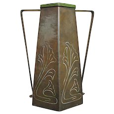 Antique Benedict Studios Brass Vase  ff91