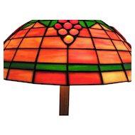 Old Tiffany Style Table Lamp i252
