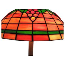 Old Tiffany Style Table Lamp i252
