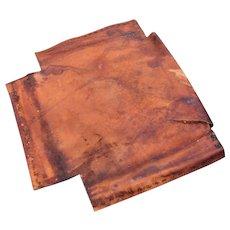 Antique Gustav Stickley Original Seat Leather  le15