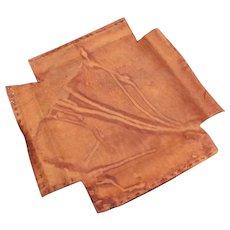Antique Gustav Stickley Original Seat Leather  le16