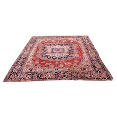 Superb Antique Serapi Rug r4460  FREE SHIPPING