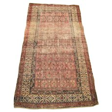 Antique Persian Oriental Rug with Wear r5684