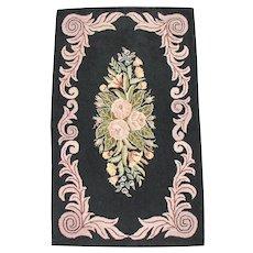 American Folk Art Hooked Rug  r5912