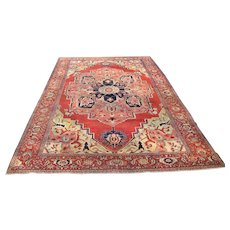 Superb Antique Persian Serapi Rug r6299  FREE SHIPPING