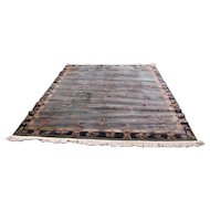 Antique Wilton Deco Decorated Rug  r6576   FREE SHIPPING