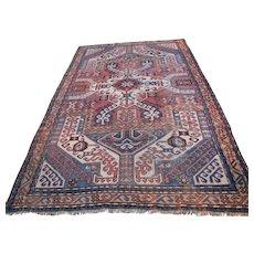 Antique Caucasian Kazak Rug  r9413