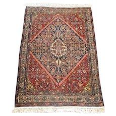 Vintage Persian Hamedan Rug r9703