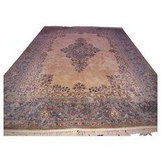 Vintage Handmade Persian Kerman Oriental Rug   rr1000