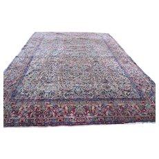 Antique Early Persian Lavar Kerman Rug  rr1247