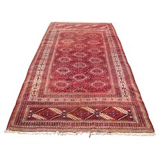 SUPERB RARE Antique Turkeman Oriental Rug  rr1535