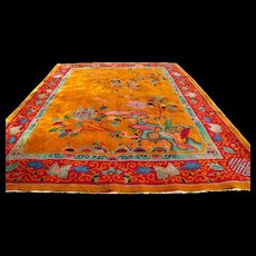 Antique Superb Art Deco Hand Made Chinese Rug  rr2029