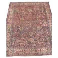 Antique PERSIAN LAVAR Kerman Great Weave rr262