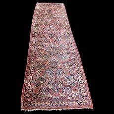 Antique Persian Sarouk Runner Rug  rr2679