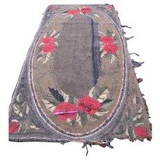 Antique American Folk Art Hooked Rug  rr2681