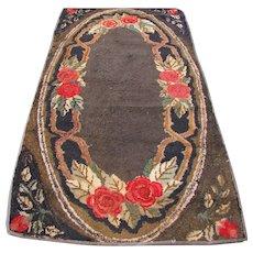 Antique American Folk Art Hooked Rug   rr2682