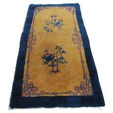 Antique Feta Chinese Deco Rug  rr2828