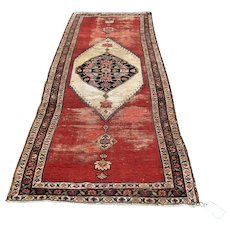 Antique Persian Kurdish Runner Rug   39 Inches by 111 Inches  rr2834