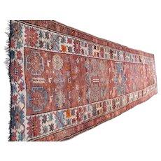 Superb Antique Caucasian Oriental Runner Rug  rr2837