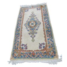 Vintage Persian Kerman Handmade Rug (Iran)  rr2907