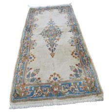 Vintage Persian Kerman Handmade Rug (Iran)  rr2908