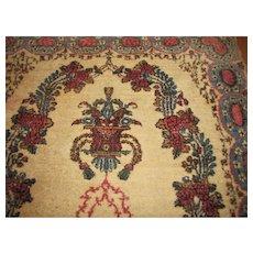 Vintage Persian Kerman Rug 3x6   rr2919