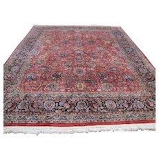 """Vintage Oriental Handmade Rug 120"""" x 95.25""""   rr3019 - Red Tag Sale Item"""