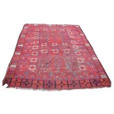 RARE Antique Turkoman Oriental Prayer Rug  rr3029