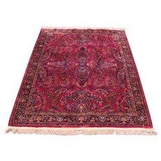 Vintage Red Sarouk Design Karastan Rug  rr3311a