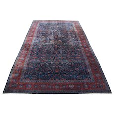Antique Persian Palace Size Kashan Oriental Rug  rr3340