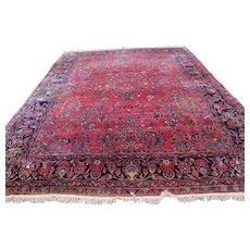 Great Antique Handmade Maharajan Sarouk Oriental Rug  rr3357