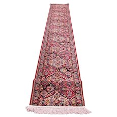 Superb Vintage Wilton Oriental Runner Rug  rr3388  Looks Like Made Yesterday!!!