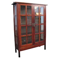 Superb Antique Gustav Stickley 2 Door China Cabinet  w5177