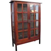 Superb Antique Gustav Stickley 2 Door China Cabinet  w5177