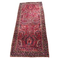 Superb Antique Persian Sarough Runner Rug  rr3401