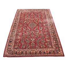 Great Antique Persian Sarough Oriental Rug  rr3440