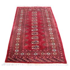 Vintage Handmade Pakistan Bokhara Oriental Rug  rr3476