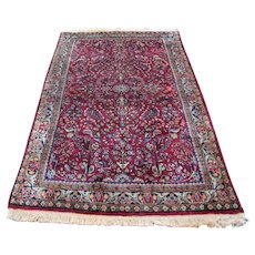 Great Antique Red Sarouk Rug  rr3497