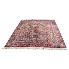 Superb Vintage Panel Design Karastan Rug  rr3518    Looks Like Made Yesterday!!!