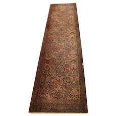 Antique Anglo-Persian Runner Rug  rr3541