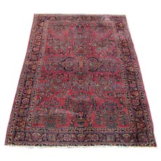 Antique Sarough Oriental Rug  rr3542