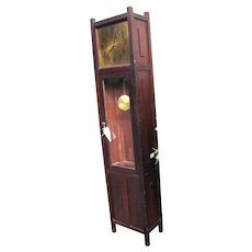 Antique Arts & Crafts Grandfather Clock  w1043